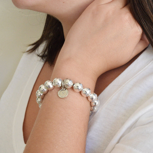 The Eternity Bracelet in Hammered Silver
