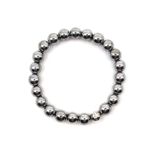 The Luna Bracelet in Hematite