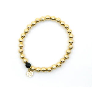 The Maggie Eternity Bracelet in Gold - Special Edition with Tourmaline