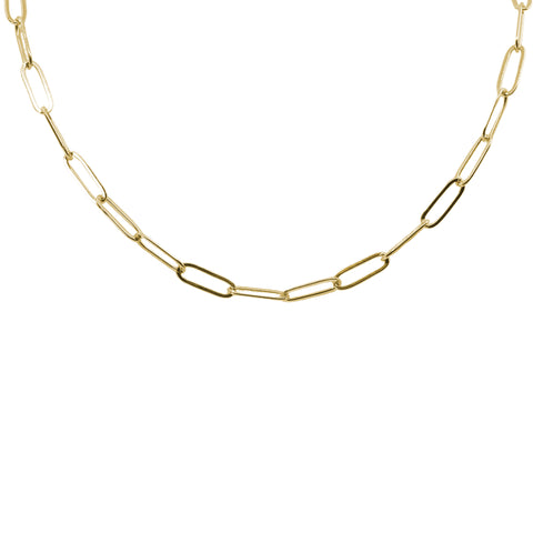 Build Your Own Gold Paperclip Chain Necklace