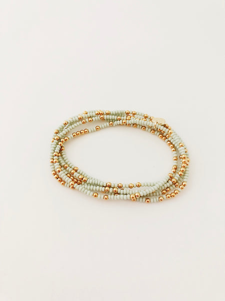 Handmade Beaded Wraparound Bracelet