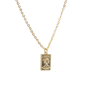 Queen Elizabeth Gold Bar Necklace