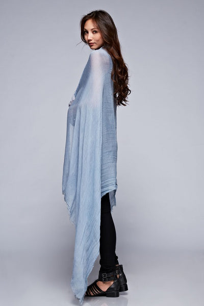 Dusty Blue Convertible Shawl