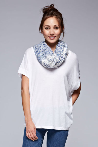 Blue Print Convertible Scarf