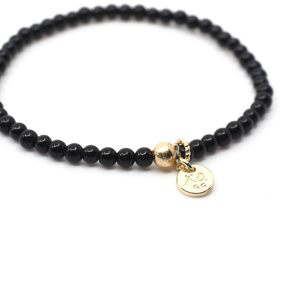 The Mini Luna Bracelet in Black