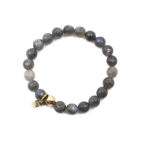 The Luna Bracelet in Labradorite