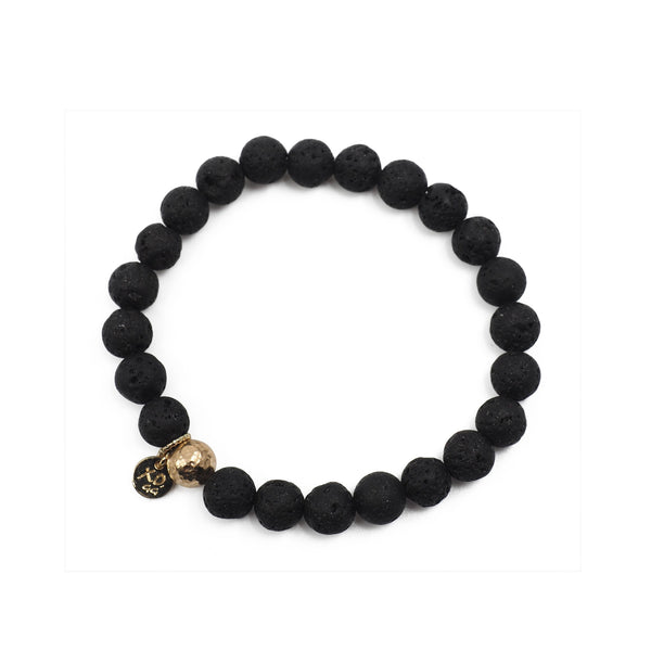 The Luna Bracelet in Black Lava