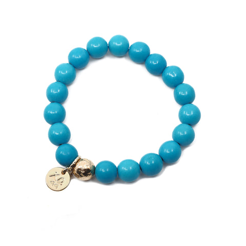 The Luna Bracelet in Teal