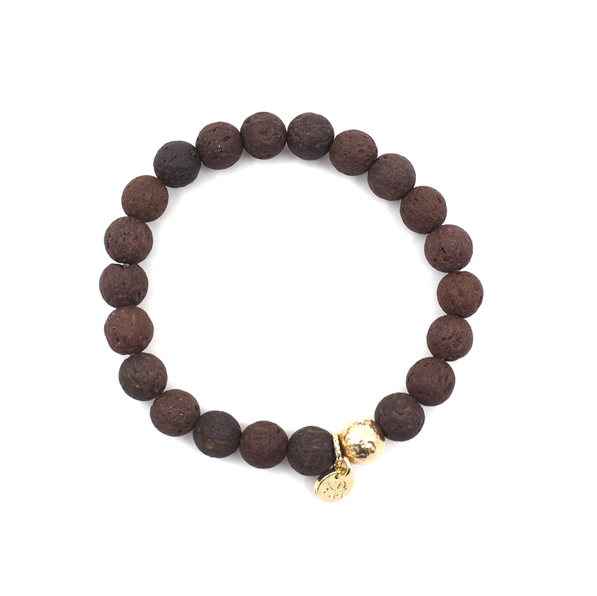 The Luna Bracelet in Brown Lava