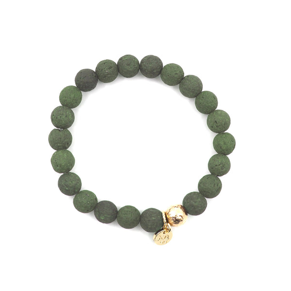 The Luna Bracelet in Green Lava