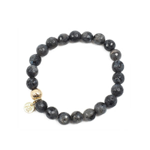 The Luna Bracelet in Black Labradorite