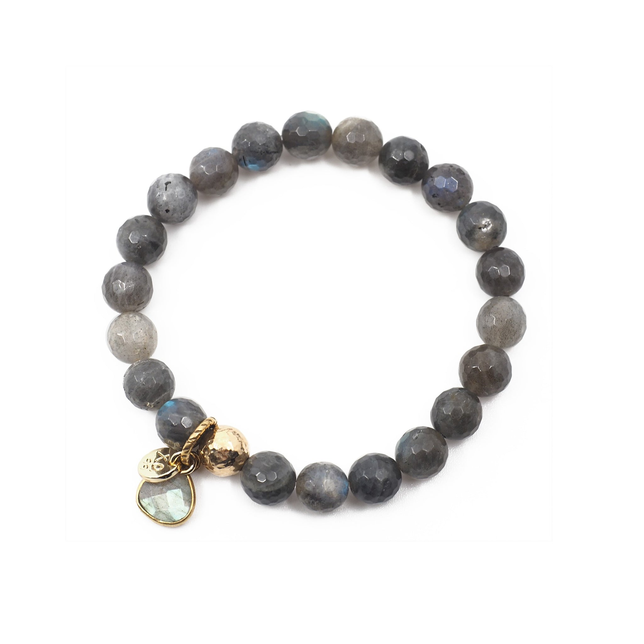 The Luna Charm Bracelet in Labradorite