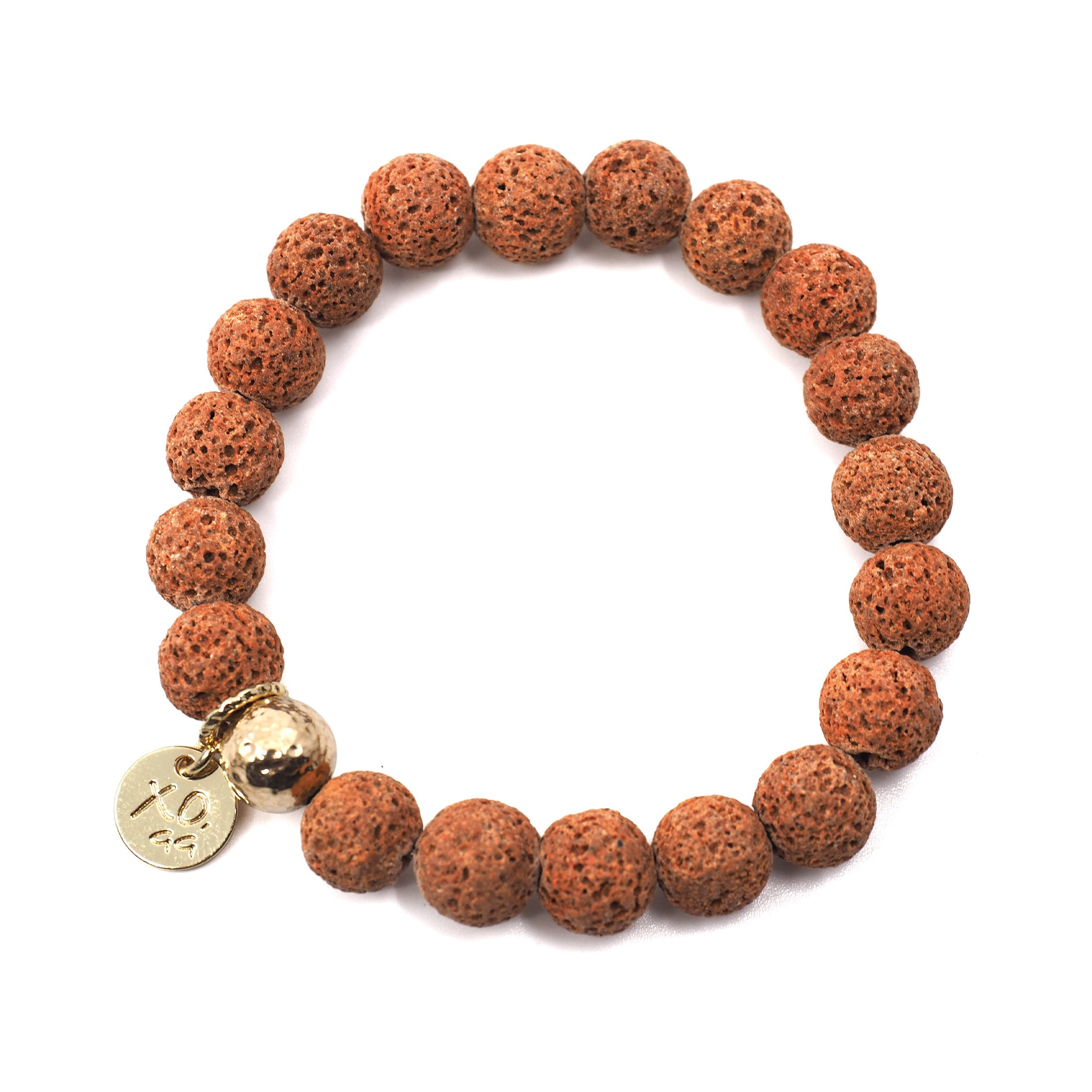 The Luna Bracelet in Brick Lava