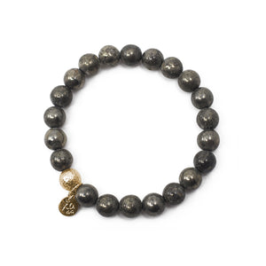 The Luna Bracelet in Pyrite