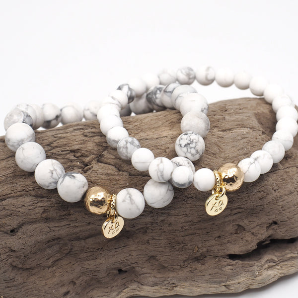 The Luna Bracelet in White Marble