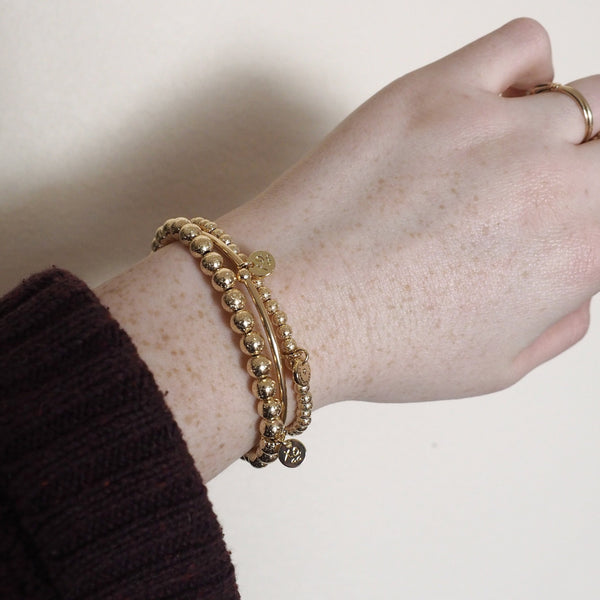 The Eternity Bracelet in Hammered Gold