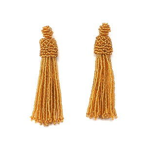 Huichol Beaded Tassel Earrings