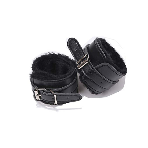 YINGE Leather Handcuffs Adjustable