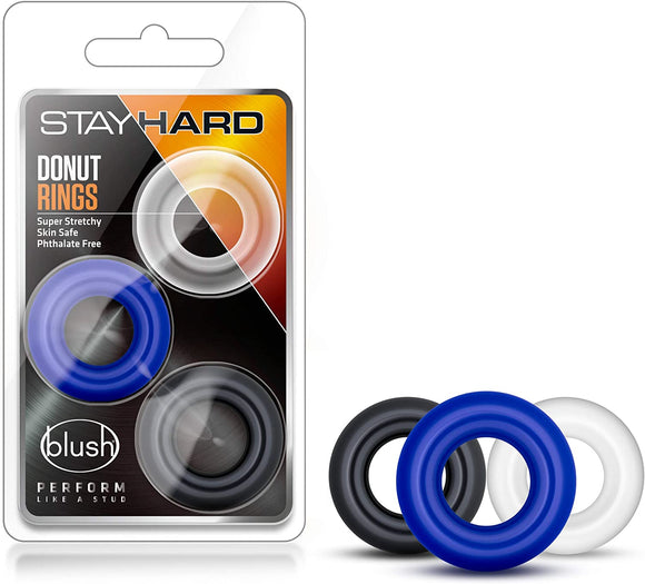 Stay Hard Donut Ring (Blush) 3 Pack