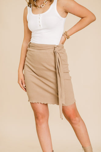 Oatie Ribbed Skirt (Available In Multiple Colors)