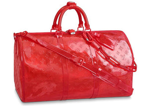 Louis Vuitton Keepall Bandouliere Monogram 50 Red