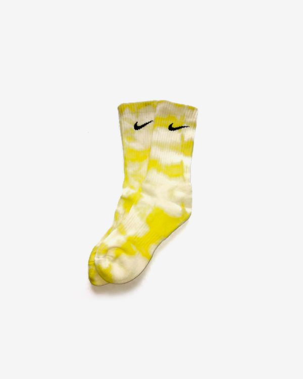 NIKE YELLOW SPLASH SOCKS