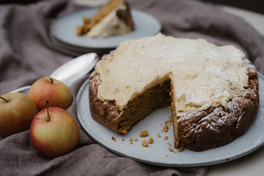 Lupin Apple Cinnamon Cake With Maple Frosting