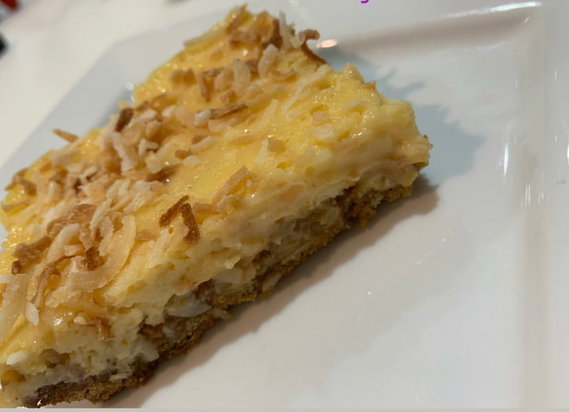 Lupin Anzac Lemon & Coconut Slice