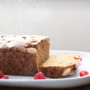 LUPIN RASPBERRY WHITE CHOC LOAF