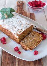 Load image into Gallery viewer, LUPIN RASPBERRY WHITE CHOC LOAF