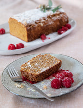 Load image into Gallery viewer, LUSCIOUS LUPIN RASPBERRY WHITE CHOC LOAF