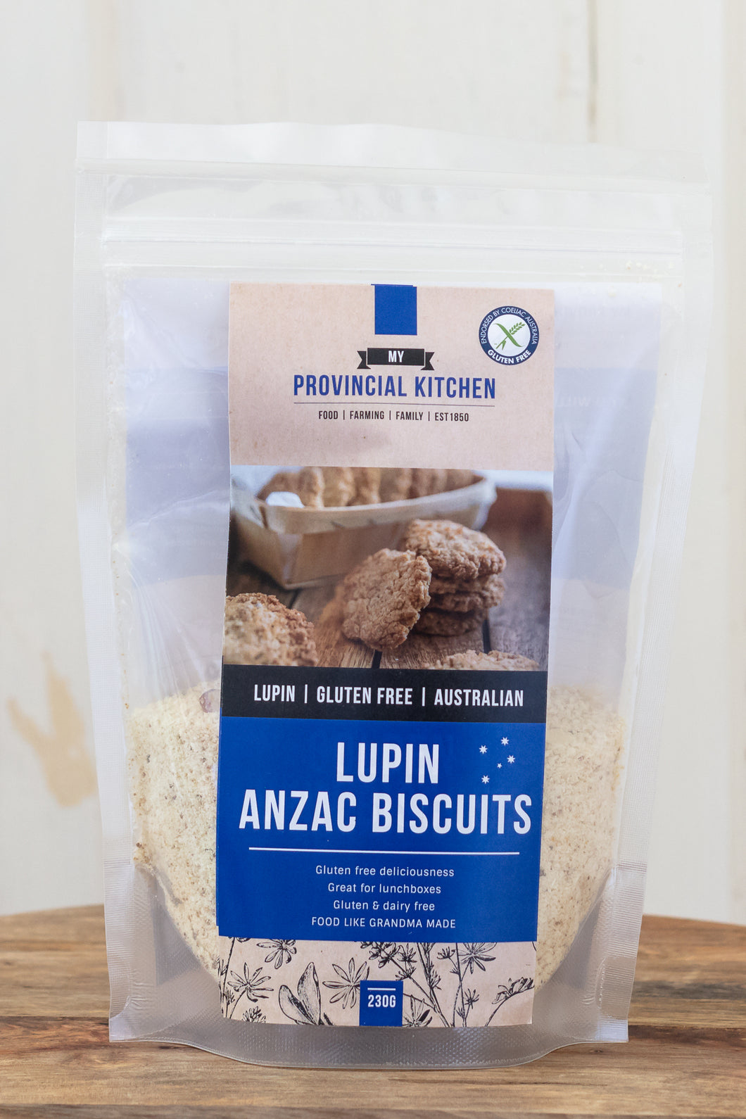 LUPIN ANZAC BISCUITS