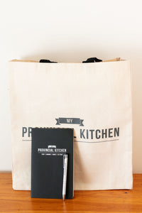 My Provincial Kitchen canvas tote, notebook and pen