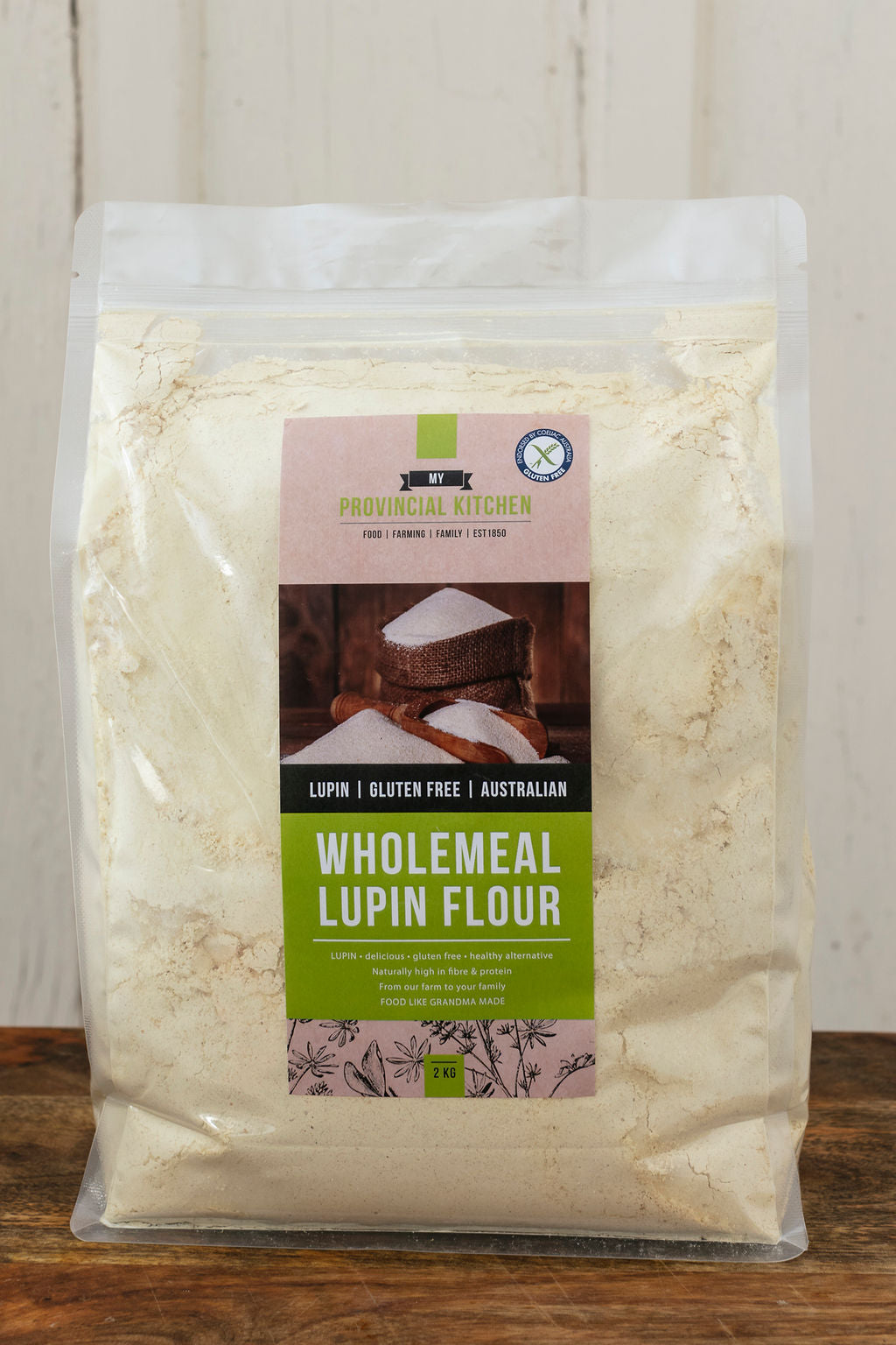 2kg WHOLEMEAL LUPIN FLOUR