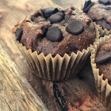Load image into Gallery viewer, Chocolate Muffins created using wholemeal lupin flour. Gluten Free chocolate muffins.