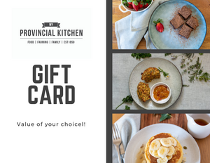 My Provincial Kitchen lupin gift card