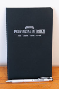 My Provincial Kitchen notebook and pen