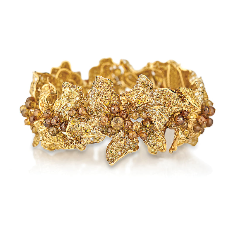 Alissa Yellow Gold Bangle by Neha Dani