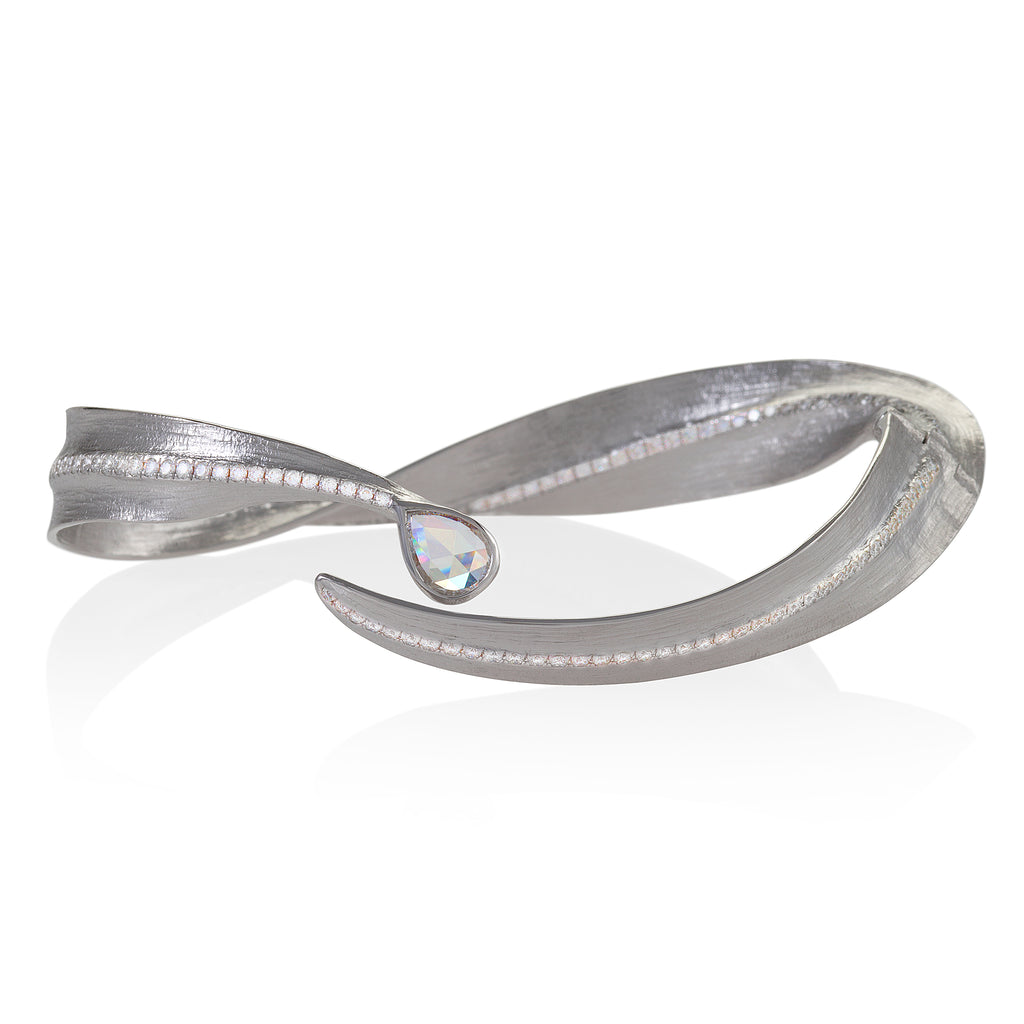 White Gold Bangle