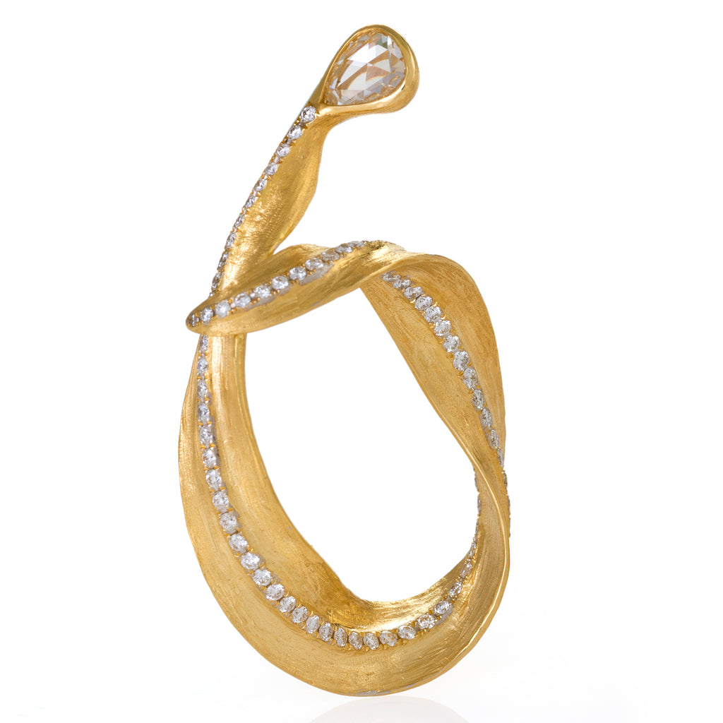 Callista Yellow Gold Hoop Earrings by Neha Dani