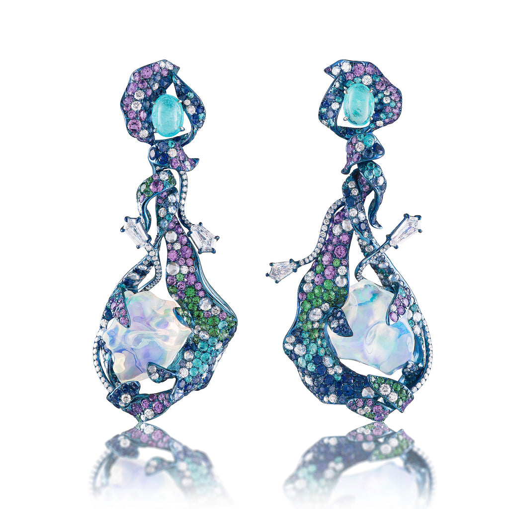 Ridhaya Water Opal Earrings