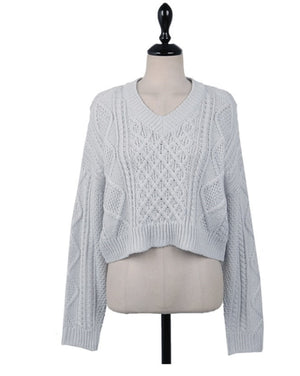 Keily Twist Pullover Sweater - OWNPURPLE