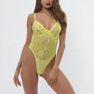 Sexy Lace Bodysuit (8Colors) - OWNPURPLE