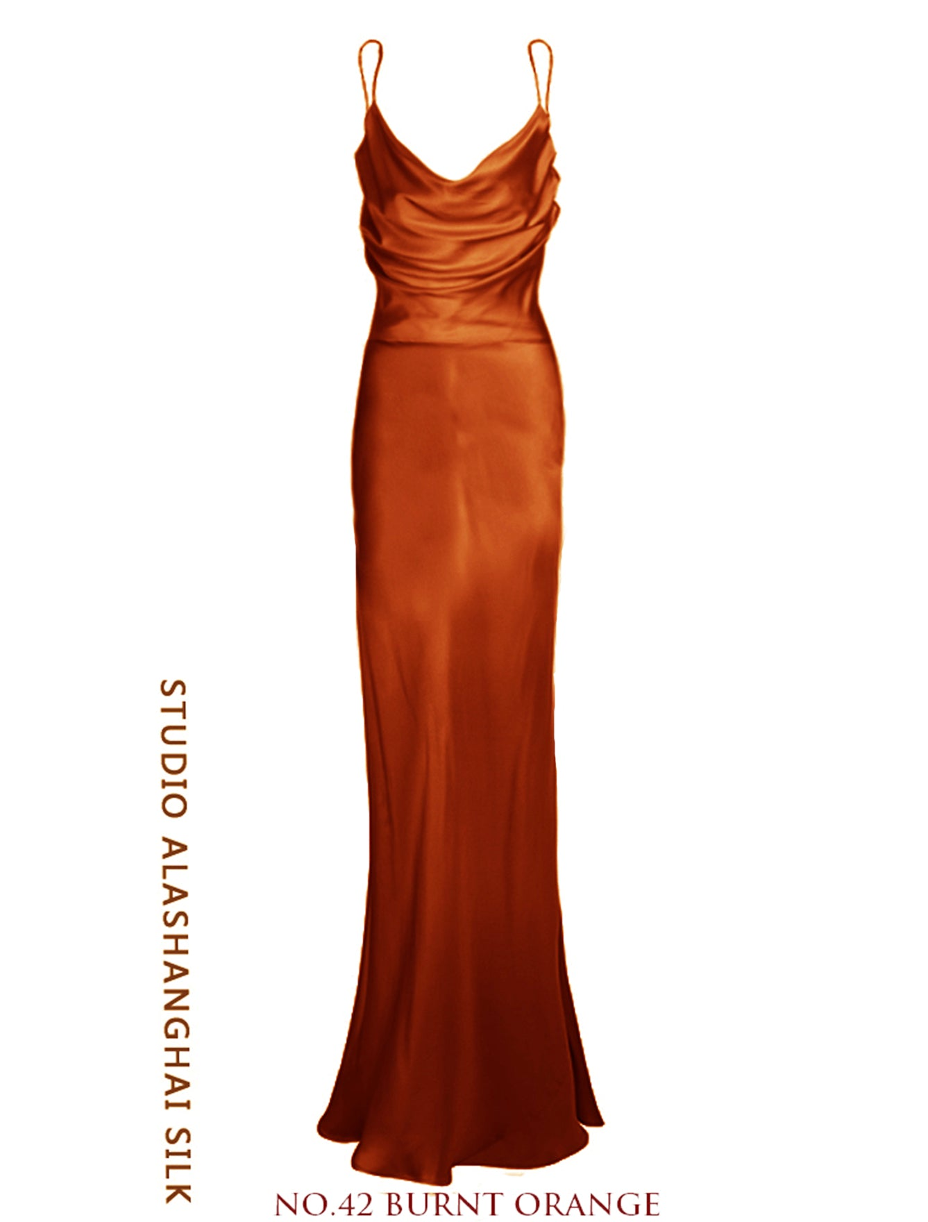 Rhiannon Mulberry Silk Dress Orange Burnt
