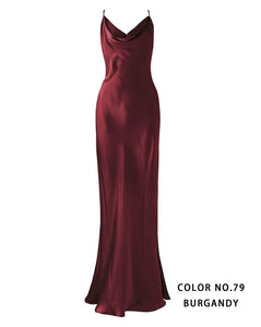 Crystal dress in burgundy color for CHRISTINE
