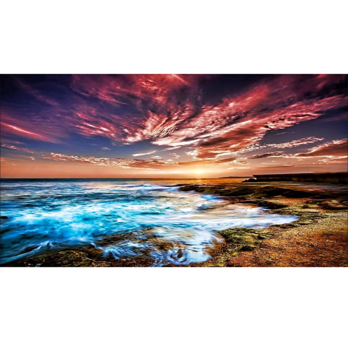 Ice Fire Landscape 5D DIY Paint By Diamond Kit
