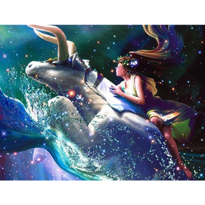 Merman Or Mermaid Constellations 5D DIY Paint By Diamond Kit - Paint by Diamond