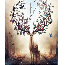 Plum Blossom Deer 5D DIY Paint By Diamond Kit