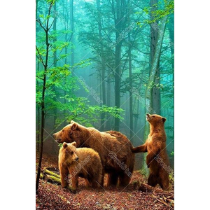 Three Bears 5D DIY Paint By Diamond Kit