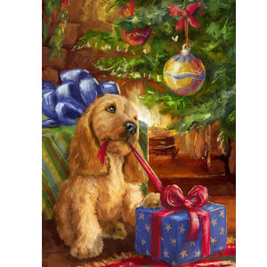 Puppy Gift - Christmas 5D DIY Paint By Diamond Kit